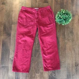 VINTAGE Tommy Hilfiger Red Wide Leg Pants / Chinos
